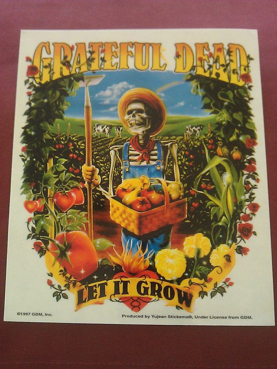 Grateful dead skeleton farmer let it grow 5 1 4x6 1 4