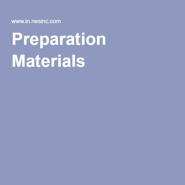 Preparation Materials