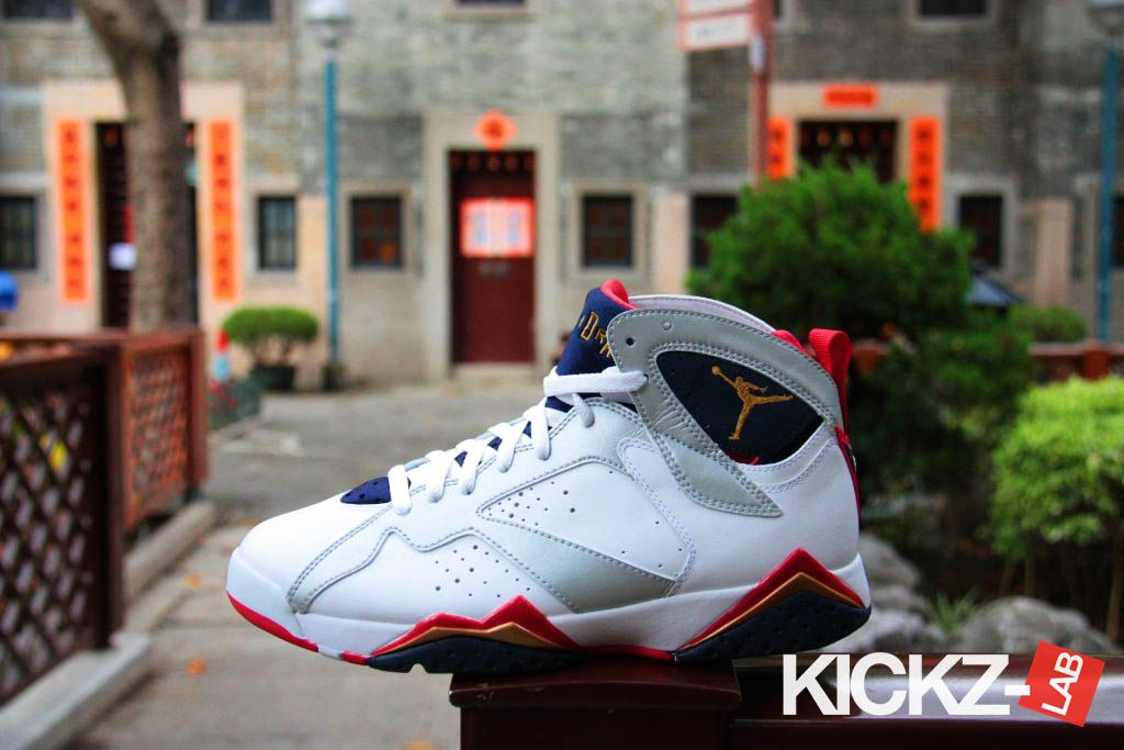 5a4fc7040ba817 Air Jordan Retro 7 Olympic KicksOnFire