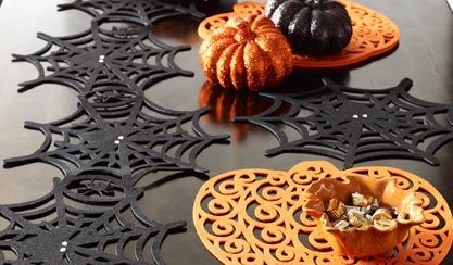 Spider Web Table Runner.  Just bought this and can't wait to decorate!
