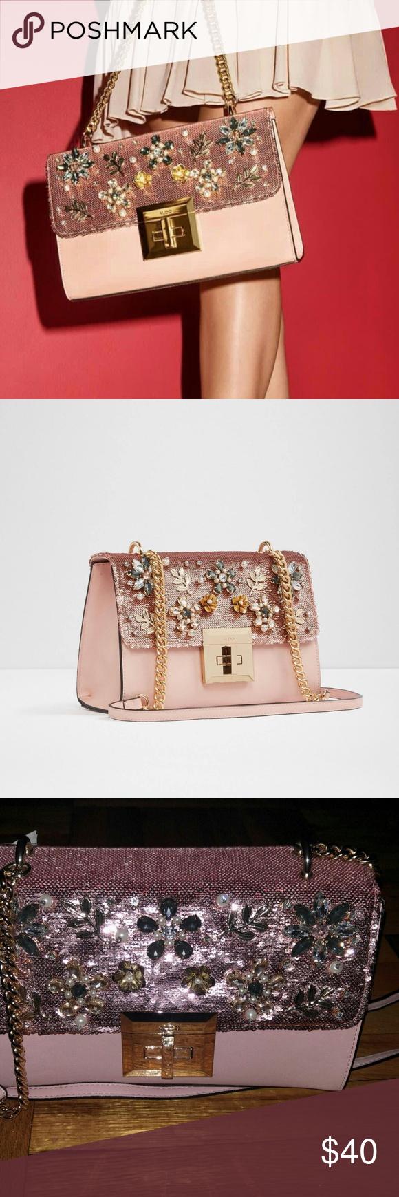 b3f8dbdcaf3 Aldo Light Pink Peach Derosia Crossbody Bag Very Beautiful Interior pocket  Faux Leather Secure clasp fastening ALDO Bags Crossbody Bags