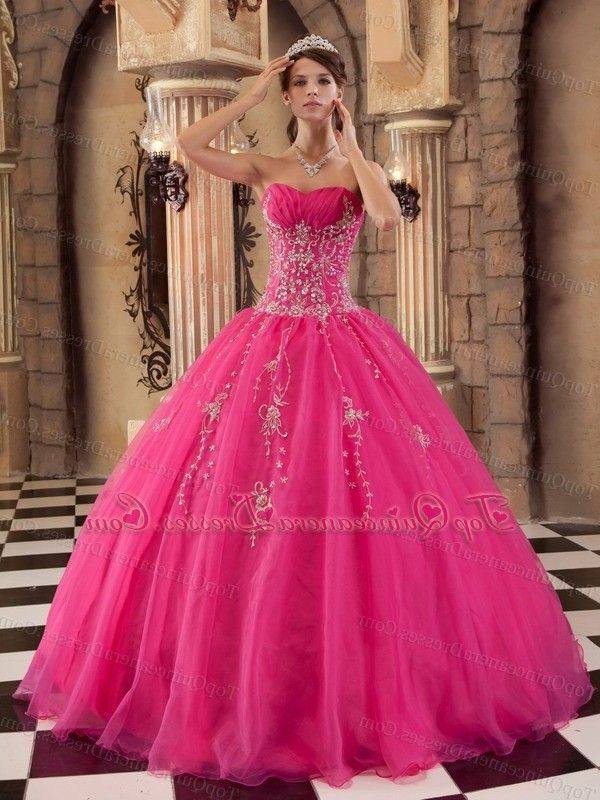 Pink Sparkly Sweet 16 Dresses Hot Pink And Black