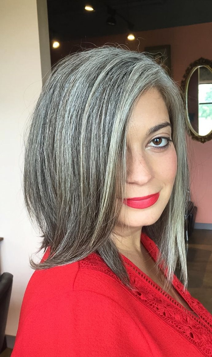 Natural Grey Hair Salt And Pepper Hair Colour Sterling Silver In
