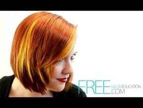 Hair Color tutorial - Block Hair Color Technique - Dimensional hair ...