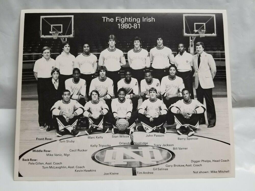 Details about 1980-81 Notre Dame Irish Basketball Team ...