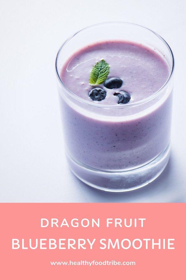 Energizing Dragon Fruit Blueberry Smoothie Recipe | Healthy Food Tribe