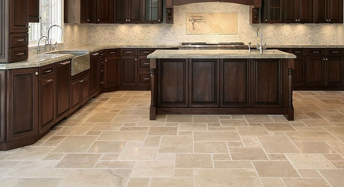 Brilliantlimestonekitchenfloortilesdesign 1167×634 Captivating Kitchen Floor Options 2018