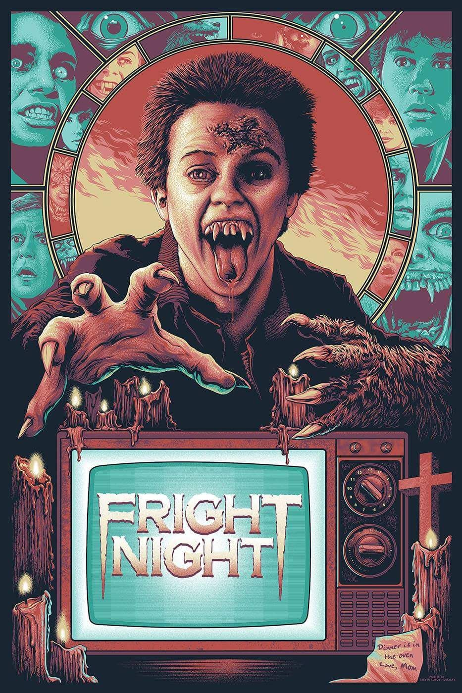 Fright Night Steven Luros Holliday With Images Horror Movie