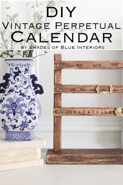 How to create a vintage style perpetual wooden sliding calendar