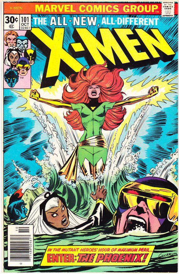 X Men 101 1st Phoenix Nm Key Comic Book Xmen Storm 1976 Hulk Comic Marvel Comics Covers Comic Book Covers