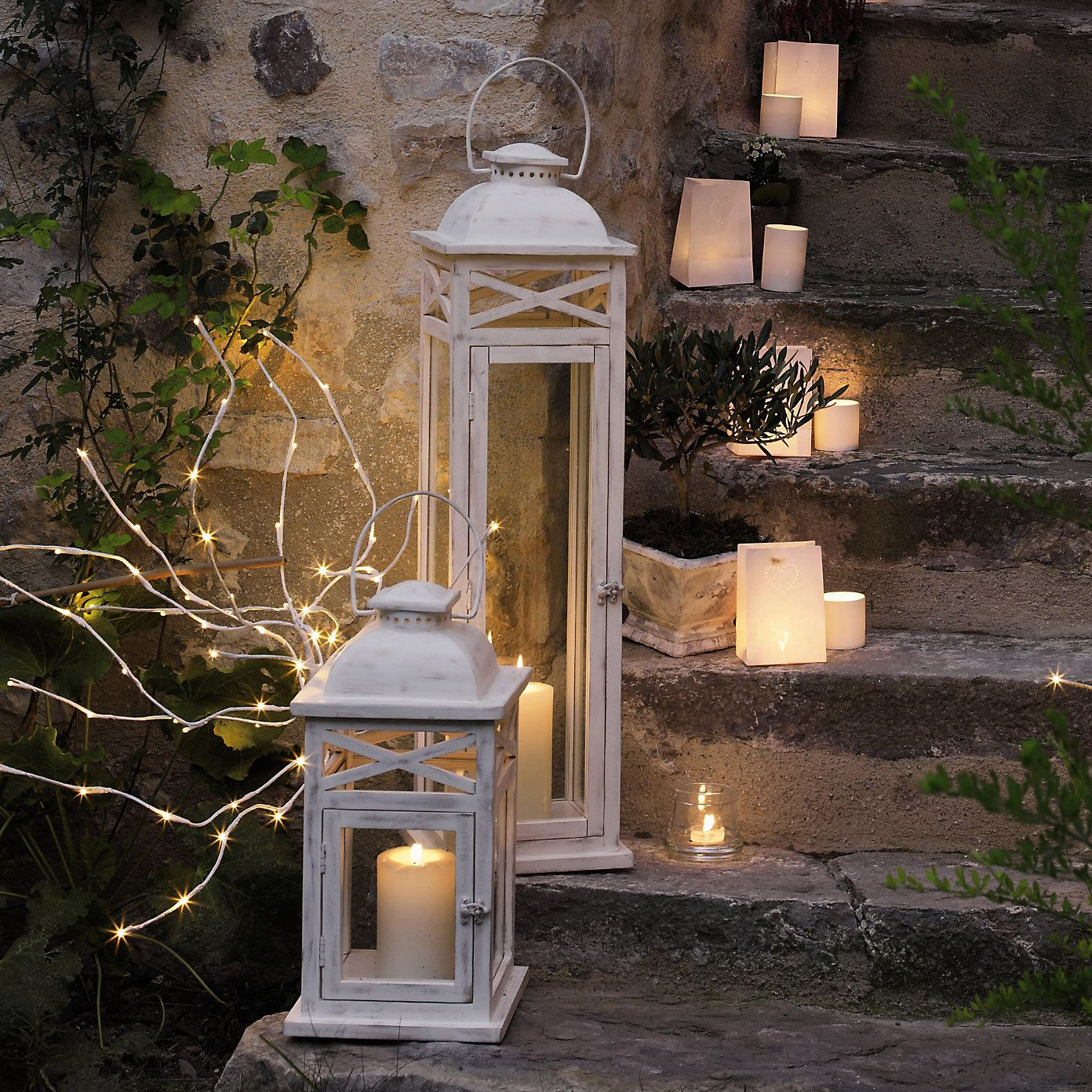 three hanging sale htm decor set on black outdoor of decorative lantern lanterns candle