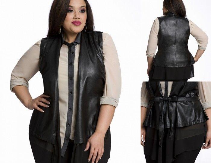 Ashley Stewart Leather Vest #gottahaveit