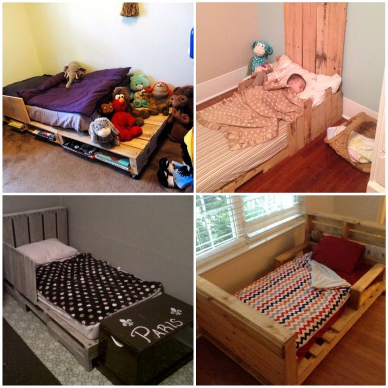 Home projects using pallets for bed.