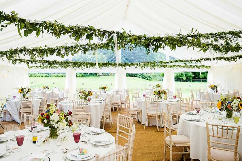 Fresh Pretty Wedding Tent With Marquee Ceiling Decoration Photo