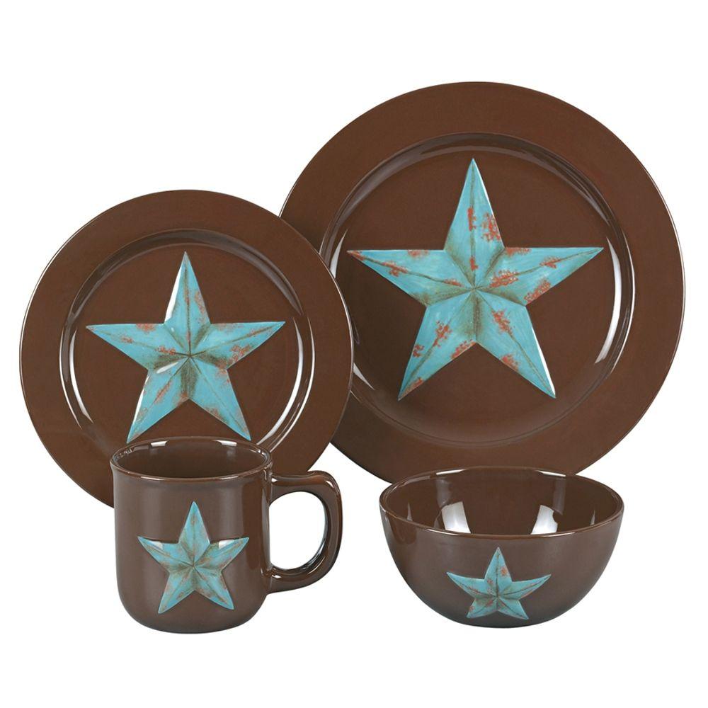 Texas Star - 16-Piece Star Dinnerware - Hard to find - Try ThunderHorseCabin.  sc 1 st  Pinterest & Texas Star - 16-Piece Star Dinnerware - Hard to find - Try ...