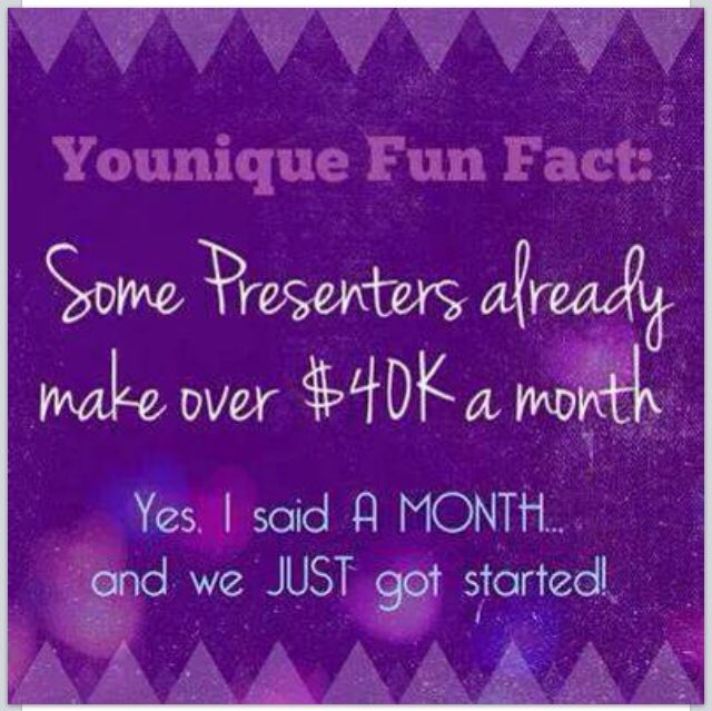 Interested in becoming a Younique Presenter? Visit my website at www. Younique-by-Gina.com