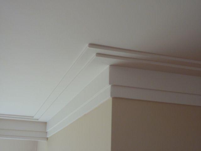 Dubbele plafondplint mooie afwerking bloembakken for Plafond sierlijst