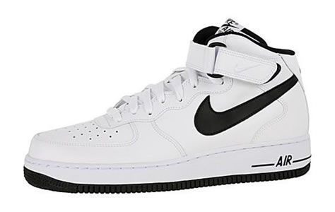 Nike Air Force 1 Mid White Black