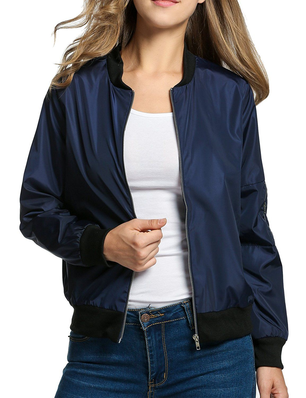 HOTOUCH Women Lightweight Biker Bomber Jacket Classic Quilted Short Outdoor  Coat at Amazon Women's Coats Shop