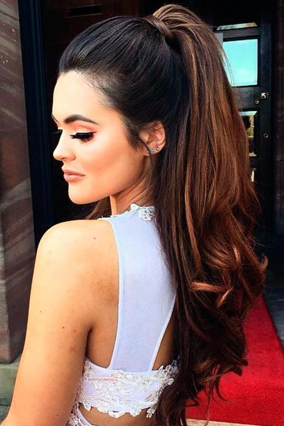 Ponytail Hairstyles For Long Hair Cute High Ponytail  Hairstyle  Pinterest  High Ponytails
