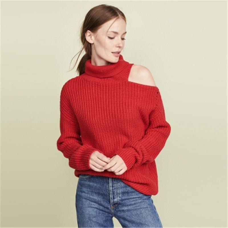 Knotted All Matching Long Sleeve Off Shoulder Bottoming T