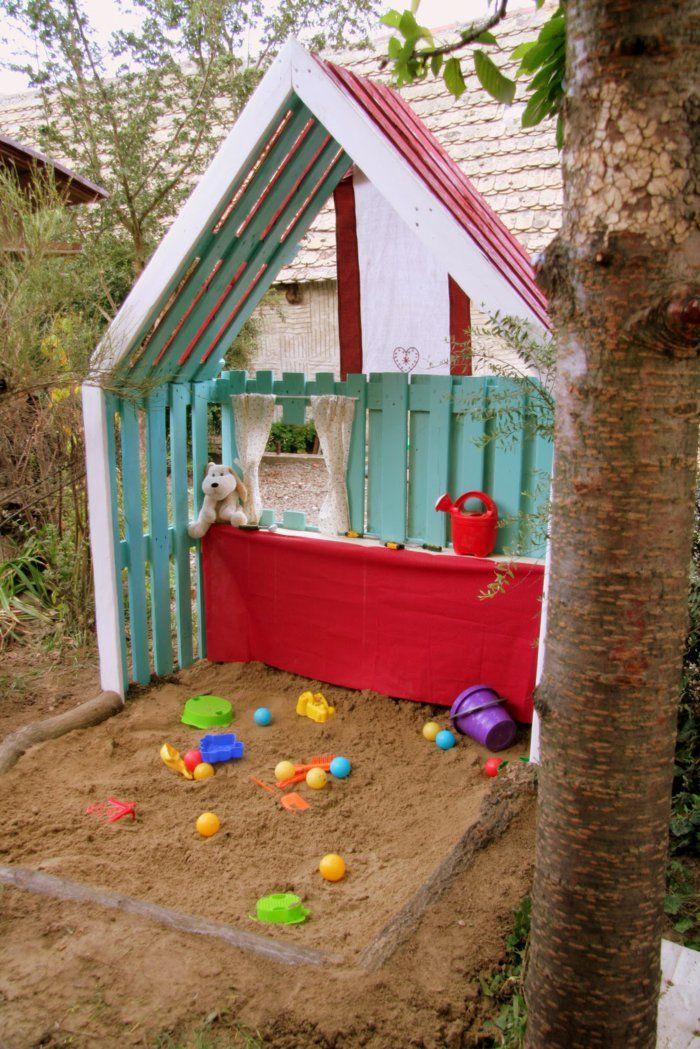 29 Gartenideen mit Europaletten Kinderspielecke