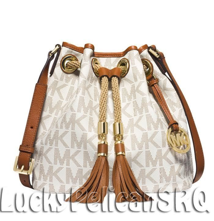 bd59168d84a3 Michael Kors Marina MK Signature PVC Medium Messenger Crossbody Bag Vanilla  NWT #MichaelKors #MessengerCrossBody