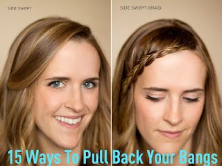 15 Ways to Pull Back Your Bangs for those summer days when you don't know what to do with your hair! SixSistersStuff.com #hair