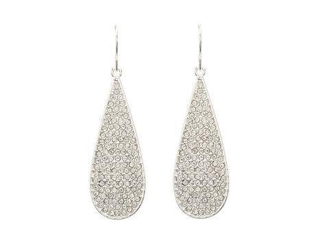 LAUREN Ralph Lauren Large Pave Teardrop Earrings Silver/Crystal - Zappos.com Free Shipping BOTH Ways