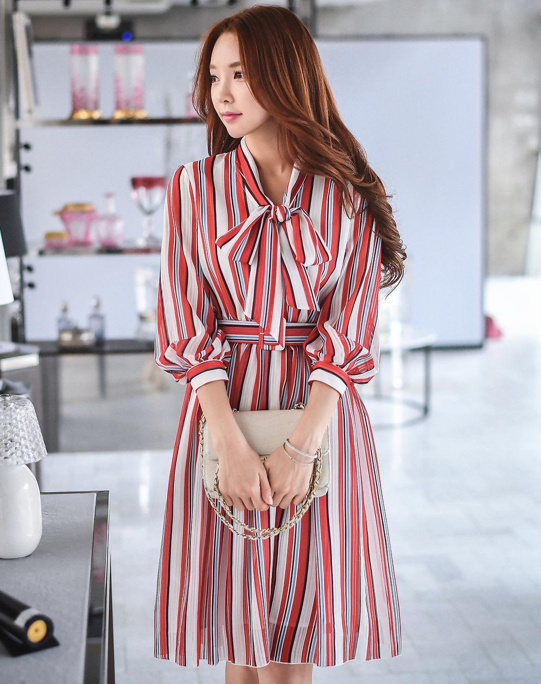 Red strappy neck sleeve high waist length skater dress
