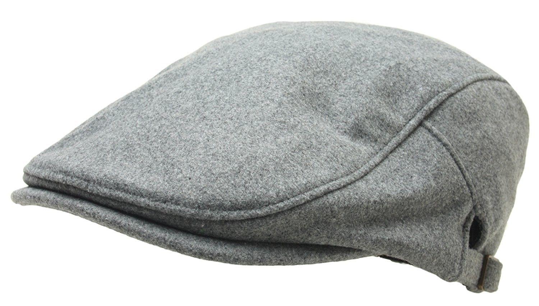 b6727d416ef30 Men Woolen newsboy Flat Cap Basic Design Warm Gatsby IVY Driver Hat Cabbie  Golf - Gray - CD187G7ME2O - Hats   Caps