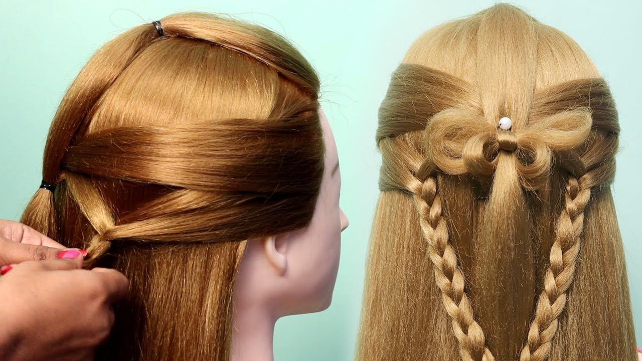 Quick Easy Hairstyles For Party Hair Styles Girls Simple Hair St Hair Styles Easy Party Hairstyles Party Hairstyles