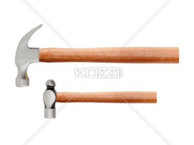 Two Hammers A Claw Hammer And A Ball Peen Hammer Are Arranged Horizontally On A White Background Hammers Stock Photography Free Claw Hammer