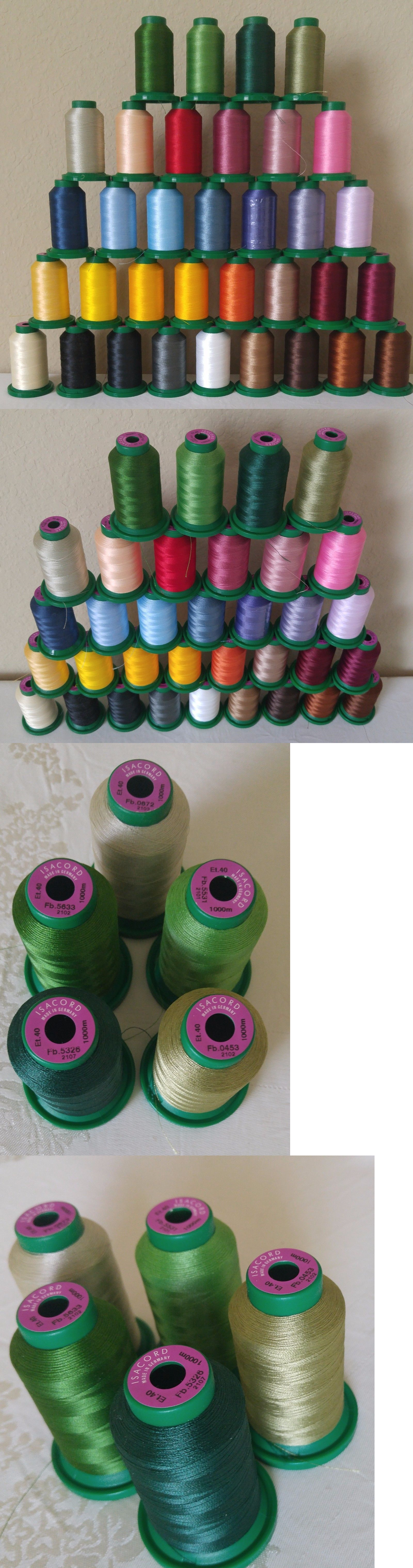 Machine Bobbins And Thread 83920 Lot Of 34 Cones Spools Isacord