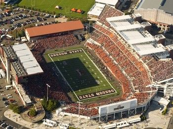 Reser Stadium Home Of The Oregon State Beavers Located In Corvallis Or Oregon State Beavers Oregon State Football Stadiums