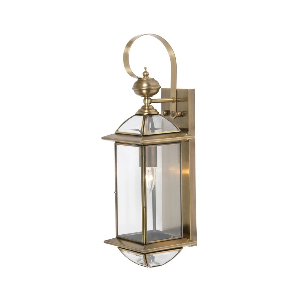 530mm 142 Oaks 205 1 Br Light Antique Outdoor Wall Lantern
