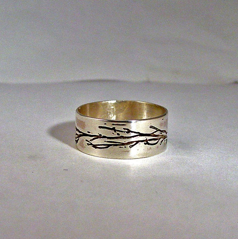 Custom personalized Tree Branch ring sterling by MineOverMatter, $44.00