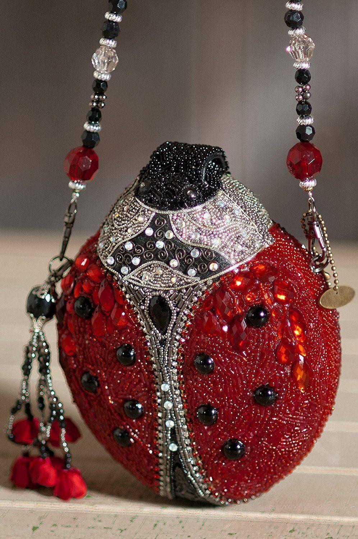Ladybug Mary Frances Designer Handbag Rojo Negro Lady Bug Bag Nuevo  – Bolsa