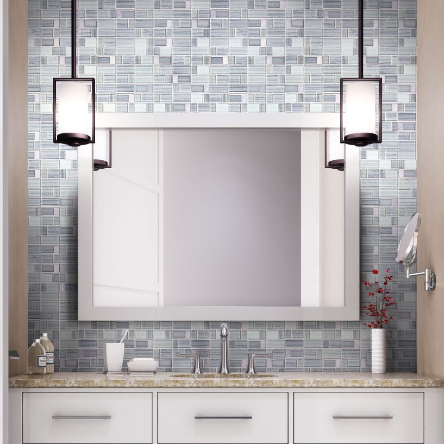 Elida Ceramica Windows Silver Mixed Material Gl And Metal Mosaic Wall Tile Common 12 In X Actual 11 75 At Lowes