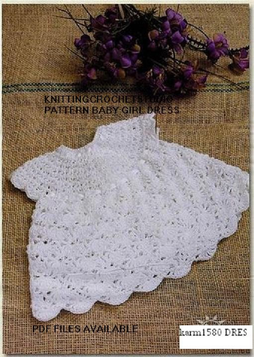 Crochet Pattern for newborn baby dress 0-6 month in pdf files ...