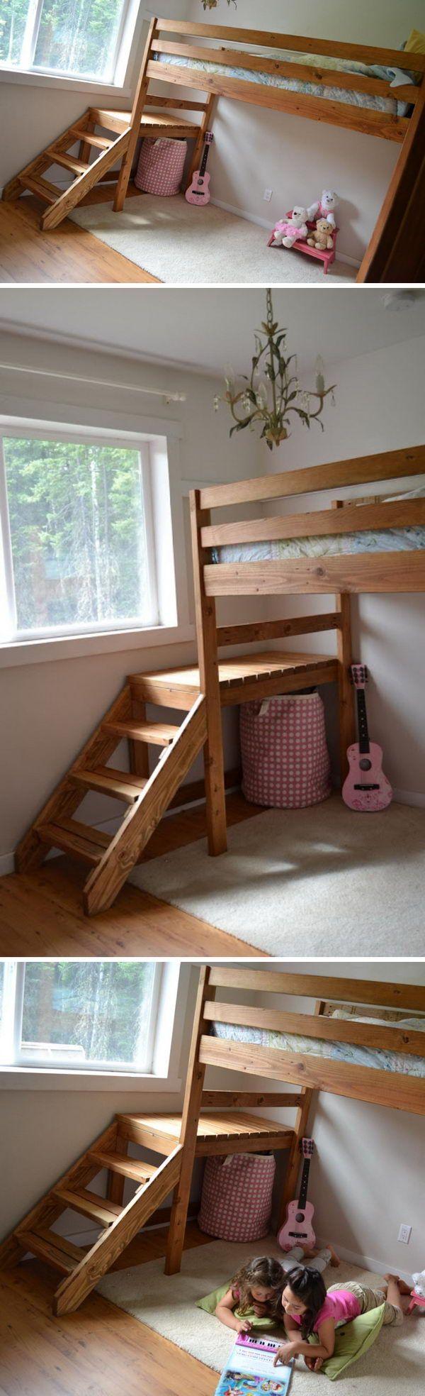 Cool DIY Kids Bunk Bed Ideas and Tutorials Girls bunk