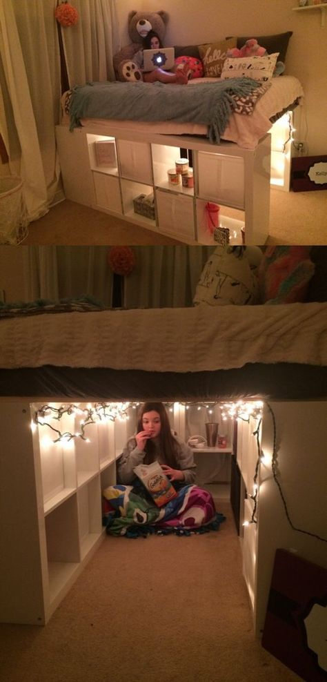 Photo of Raised Bed inside built-in Wardrobe – IKEA Hackers