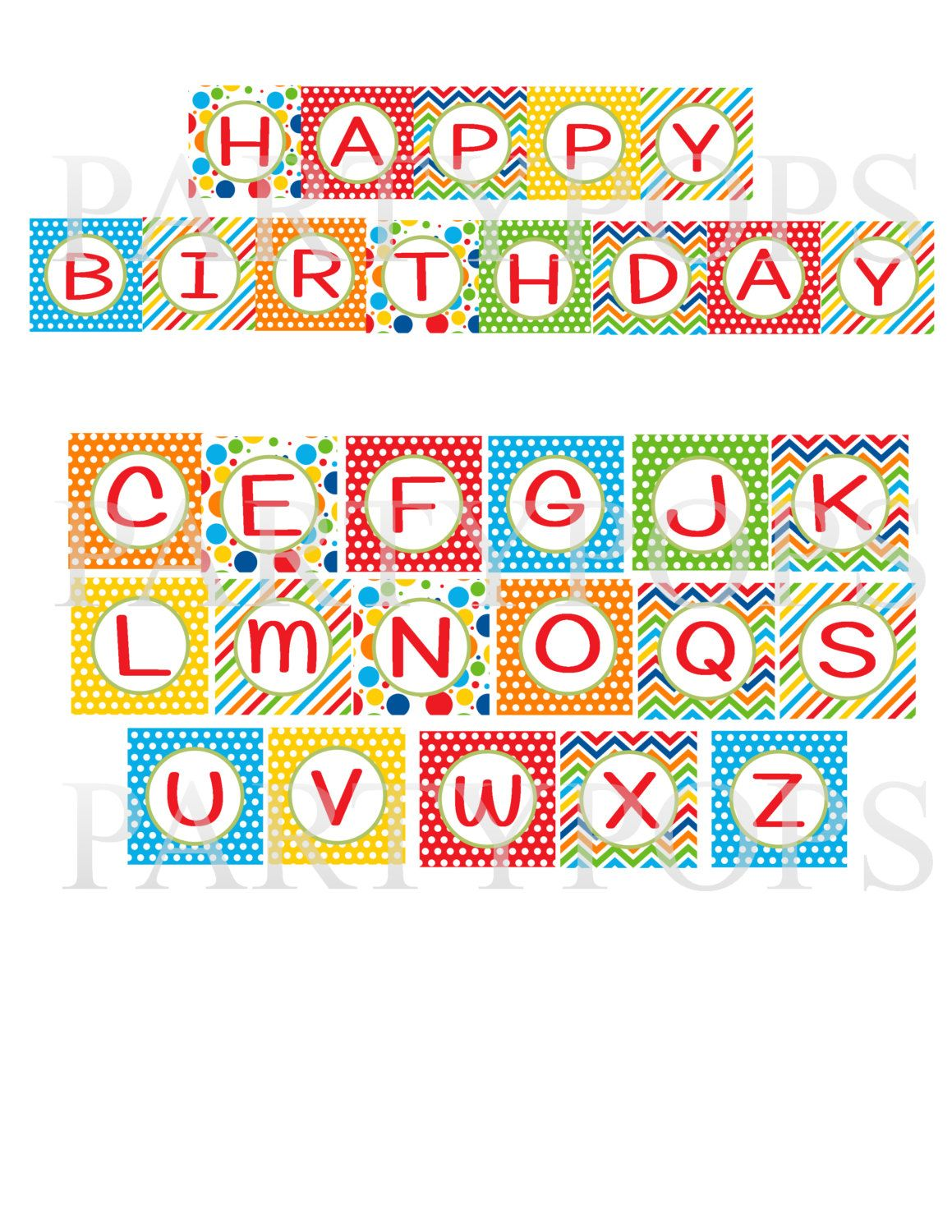 happy birthday printable banner letters free cumple