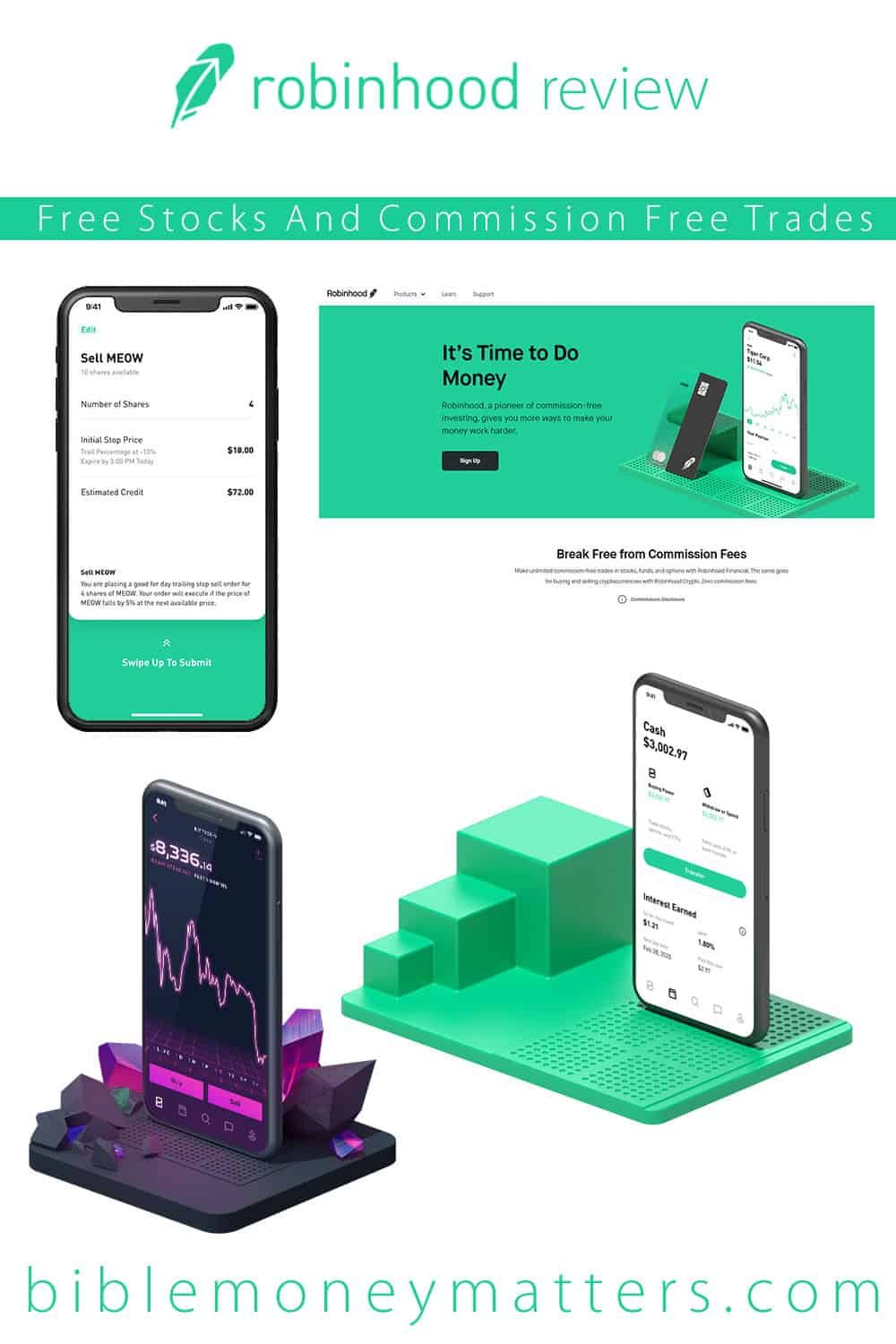 Commission-Free Investing Robinhood  Dimensions Inches
