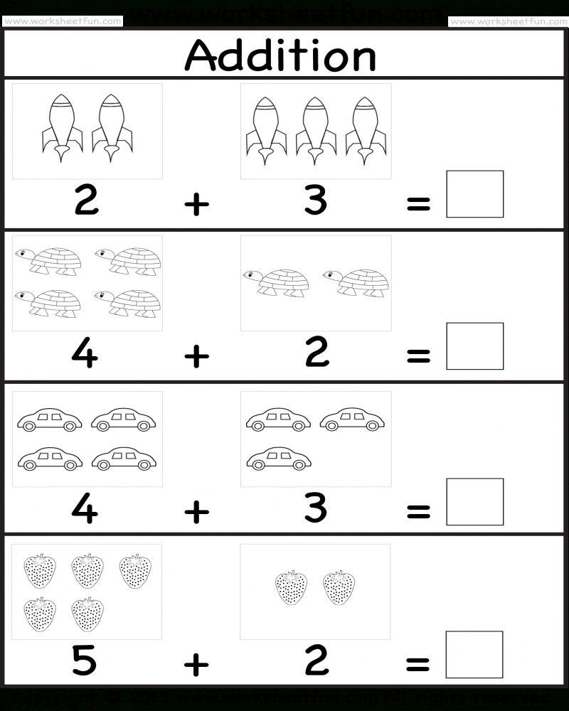 Addition Worksheet For Preschool in 2020 Kindergarten