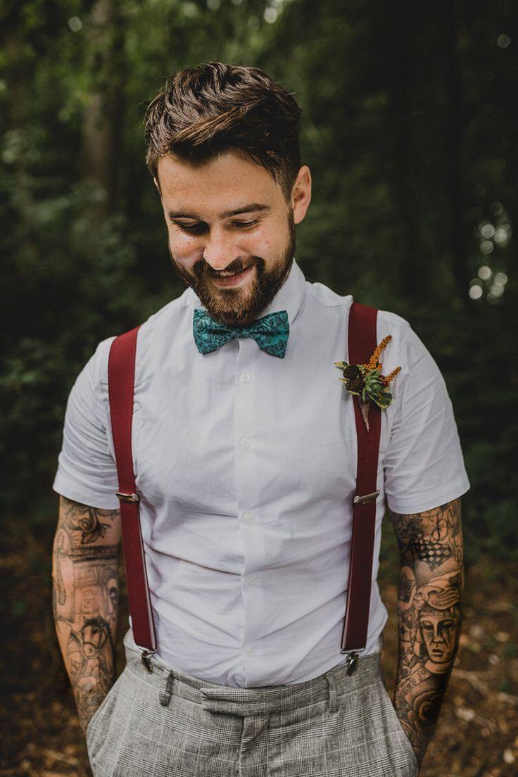Atmospheric woodland wedding ideas mens wedding attire