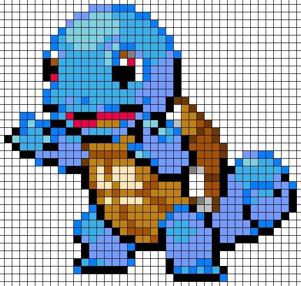 Crochet Pokemon Afghan with Granny Squares for pixel