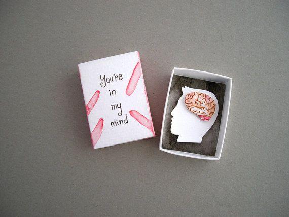Paper diorama matchbox art in my mind girlfriend gift
