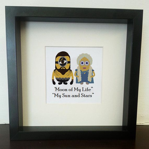 Game of Thrones Wedding Minion picture frame, khal and khaleesi ...