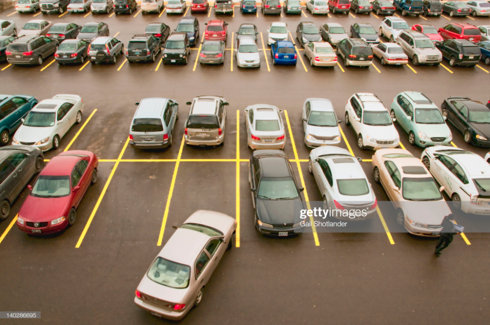 Car Parking Lot Pixel Perfect Icon In 2021 Space Icons Icon Parking Lot